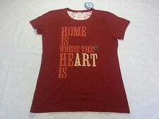 """Life is Good Women's Crusher Tee """"Home is..."""" in Red - Medium - NWT R$32.00"""