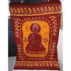 "Sitting Buddha Mixed Dye Wall Hanging Tapestry Tablecloth Decor, 52"" x 78"""