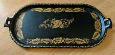 Antique American Cast Iron Griddle Later Country Tole Painting