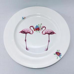 "Lou Rota London Flamingo 12.5"" Round Plate Platter Fine Bone China RARE Piece"