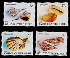 CYPRUS  SCOTT# 671-674  MNH SEASHELLS