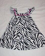 EUC Gymboree Girls WILD FOR ZEBRA Striped Animal Print Pom #2 Dress Sz 4T VHTF