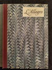 L ALLEGRO  IL PENSEROSO. By John Milton and William Blake 1954