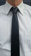 "VIKTOR SABO Handmade Black Leather Tie 2"" / 5.1 cm"