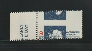 US EFO, ERROR Stamps: #1431 Antarctic Treaty. Large Perf. shift! MNG