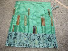 Silk Knitting needle Roll CASE organizer (three layers)