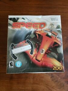Speed with Racing Wheel and Game Nintendo Wii ZOO - NEW