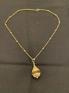 """Antique Victorian ETRUSCAN 1880's Amethyst Pearl 18 KT Yellow Gold Necklace 17"""""""