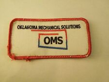Vintage OMS Oklahoma Mechanical Solutions Advertising Uniform Iron On Patch