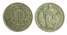 pci1839) Svizzera  Switzerland  Helvetia -  1 Franco  1939 Toned
