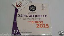 2015 8 monete 3,88 euro fdc FRANCIA BU France KMS Frankreich França ufficiale