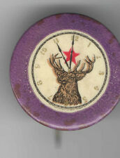 Early 1900s pin ELKS pinback CLOCKFACE button