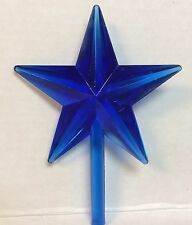 20 blue plastic stars for ceramic tree topper