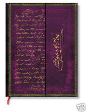 Paperblanks Writing Journal Blank Lined Edgar Allan Poe Purple 7x9 Ultra Size