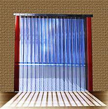 B 1,50m x H2,50m Lamellen PVC Streifen Vorhang 300x3mm