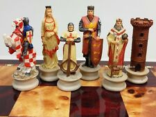 MEDIEVAL TIMES CRUSADES set chess men Arabians vs Christians Crusade NO BOARD