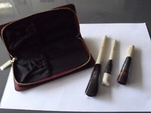 BOBBI BROWN BRAND NEW 3 MAKE UP BRUSHES  BLUSH ANGLED FACE   COVERAGE AND CASE