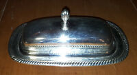 Rogers 887 Silverplate Butter Dish w/ Lid Beautiful