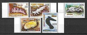 Cape Verde 2011 Fauna Wildlife Marinelife Fisch Fish Nudibranchs compl. set MNH