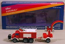 DTE 1:55 GERMANY SIKU 2913 FIRE EMERGENCY TRUCK & LIGHT TRAILER NIOB