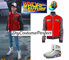 CUSTOM ! FREE SHIP Back To Future Marty Mcfly Cosplay Costume SET LIGHT UP SHOES