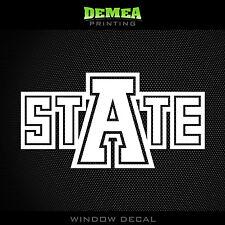 "Arkansas State Red Wolves - NCAA - White Vinyl Sticker Decal 5"""