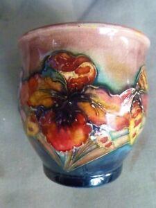 Vintage William MOORCROFT Studio Iris Periwinkle Vase 85mm High