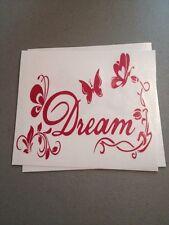 Dream With Butterflies Pink Vinyl Die Cut Decal,window,car,truck,laptop,iPad