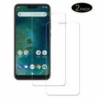 (2 PACK) For Xiaomi Mi A2 Lite Glass Screen Protector Clear 9H Premium Tempered