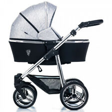 Venicci Silver 2 in 1 pram and pushchair in Silver Spark with bag and raincover