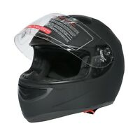M/L/XL/XXL Dual Visor Matte Street Sport Bike Full Face DOT Motorcycle Helmet
