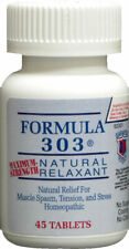 Formula 303 Maximum Strength Natural Stress Tension Spasm Relaxant 45 Tablets