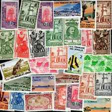 Côte Française des Somalis 150 timbres différents