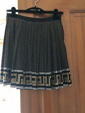 Versace H&M  Black Gold Silver Studded Studs Silk Skirt w/ Original Hanger  sz6