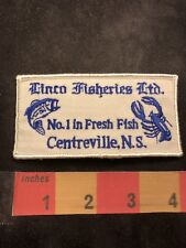 Vtg Circa 1980s Linco Fisheries Fresh Fish Centreville Ns Advertising Patch C00Y
