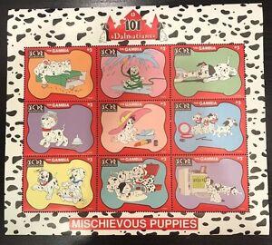 Gambia- Disney 101 Dalmatians Sheet of 9