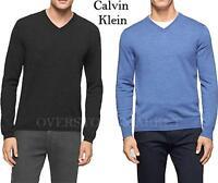 NEW Men's Calvin Klein Lifestyle Extra Fine Merino Wool V-Neck Sweater VARIETY!