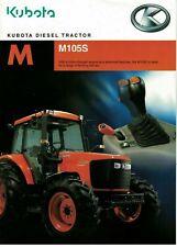 Kubota M M105S Diesel Tractor 2006 Brochure / Leaflet 6128F
