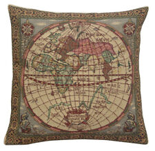 Map of the East Belgian Tapestry Decorative  Cushion Cover
