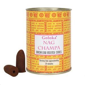 Goloka Nag Champa Backflow Incense Cones - Insence (D127)