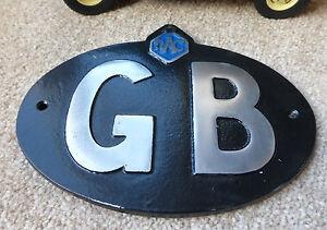 VW Bay Samba Car Classic Vintage RAC Black GB Great Britain Touring Badge/Sign