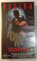 Carlito's Way VHS 1993 Brian De Palma Al Pacino 1995 Universal Small Case