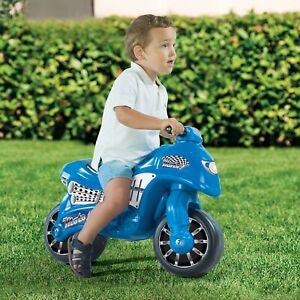 Dolu My First Motor Bike Children's Kids Push Along Walking Outdoor Balance Blue