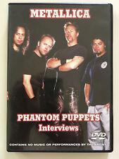 DVD °°METALLICA PHANTOM PUPPETS INTERVIEWS°°