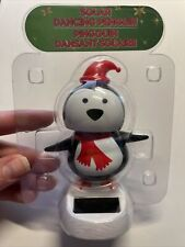 NEW Solar Powered Dancing Dancer Winter Cute Santa Penguin Bobble Head Cute Toy!