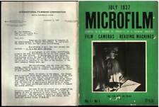 MICROFILM First Issue 1937 FILM CAMERAS & Letterhead International FilmBook Corp