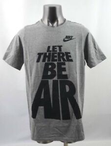 Nike Let There Be Air Tee Grey/Black Youth Size S-L New with Tags AQ9938 063