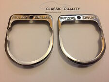 Pair of New Jaguar Etype Butlers Rear Number Plate Light Chrome Surrounds