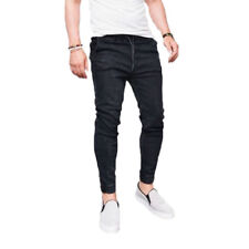 Mens Denim Jeans Pants Stretch Skinny Fit Casual Trousers Long Bottoms Plus Size