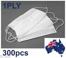 300pcs 1PLY Disposable Surgical Dental Ear loop Face Masks Respirator (OZ Stock)